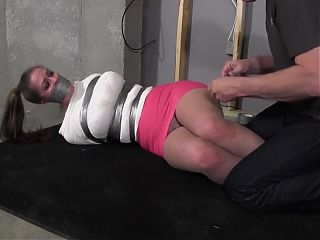 Duct Tape Bound and Gagged Bondage