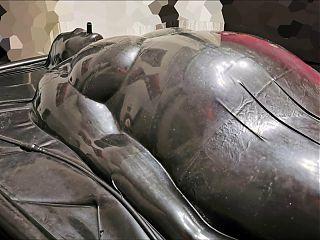 Sub Slave loving Enema inside Vacuum Bed