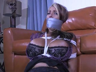 Duct Tape Gagged and Tied in Ropes